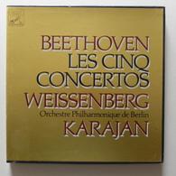 LP/ Beethoven - Les Cinq Concertos / Weissenberg, Karajan, Orchestre Philharmonique De Berlin / Coffret 4 LP - Classical