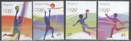 Angola 2004 Michel 1728 - 1731 CV 6, 0 Eur MNH Sport OI Athens Antika Run Basketball Handball Volley - Angola