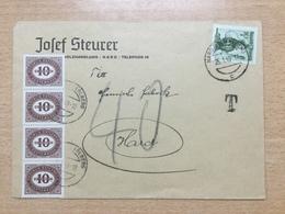 K6 Österreich 1949 Ortsbrief Von Hard Mit Attraktivem Nachporto - 1945-.... 2ème République