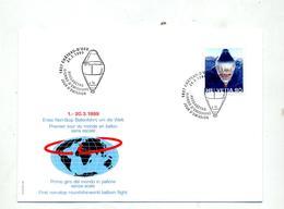 Lettre Fdc 1999 Tour Du Monde En Ballon - FDC