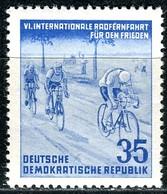 A12-49-1) DDR - Mi 356 - ** Postfrisch (A) - 35Pf          Radfernfahrt, Velo - [6] République Démocratique
