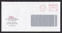 Switzerland: Cover, 1986, Meter Cancel, GATT, General Agreement On Tarriffs And Trade, World Trade, Rare (minor Creases) - Zwitserland
