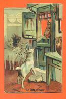 """CHROMO DECOUPI Gaufré """" Le Loup Revient """" - Victorian Die-cuts"""