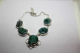 Collana Di Quarzo - Riflessi Dal Verde Al Celeste -  Misura 45 Cm - Necklaces/Chains