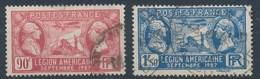 France-Légion Américaine- La Fayette Et Washington YT 244-245 Obl - France