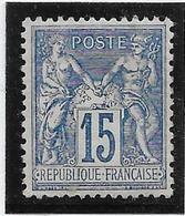 France N°101 - Neuf * Avec Charnière - TB - 1876-1898 Sage (Type II)