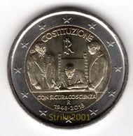 2 EURO COMMEMORATIVO ITALIA 2018 FDC 70° Costituzione Italiana - Italia