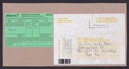 Switzerland: Parcel Fragment (cut-out) To Netherlands 2009, Postage Paid, Customs Declaration Label CN22 (traces Of Use) - Zwitserland
