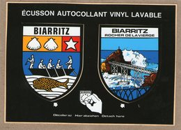 64 / BIARRITZ - Carte Postale Avec 2 écussons Autocollants - Biarritz