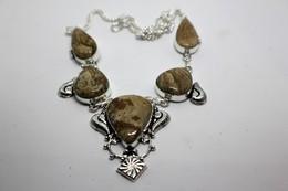 Collana Di Diaspro Marrone -  Misura 53 Cm - Necklaces/Chains