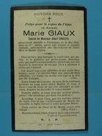 Marie Giaux épse Crucifix Finnevaux 1930 - Devotion Images
