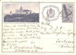 Illustrated Postal Stationery Card 1935 Pannonhalmi Apátság 16 F Sent To Holland - Feuillets Souvenir