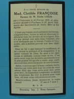 Clotilde Françoise épse Louis Finnevaux 1879 Feschaux 1930 - Devotion Images