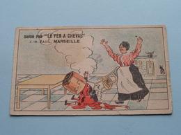 "SAVON PUR "" LE FER A CHEVAL "" ( J.-B. PAUL Marseille / Voir Photo Svp ) ! - Chromo"