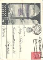 Cartolina ILLUSTRATA Serie Genova Veduta Dalla Villa Mylius Propaganda Turistica 75 C Rosso Andata In Svizzera 1944 - 4. 1944-45 Sozialrepublik