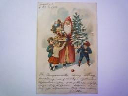 PERE NOËL  1900  Avec Relief  X - Santa Claus