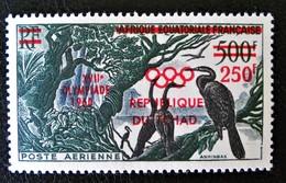 SURCHARGE ROUGE 1960 - NEUF ** - YT PA 1 - MI 65 - Tchad (1960-...)