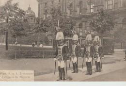 C.P.A. - WIEN -K. U; K; - TRABANTEN LEIBGARDE SR MAJESTAT - B. K. W. I. - 814 - Château De Schönbrunn