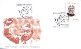 FDC Vietnam Viet Nam Cover 2018 : 100th Birth Anniversary Of Nelson Mandela / 02 Photo - Viêt-Nam