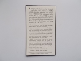 Oud Bidprentje: Maria VERSCHOOTEN Wwe Jozef STROOBANTS, Bonheiden 13/2/1872 - Muizen 14/1/1940 - Décès