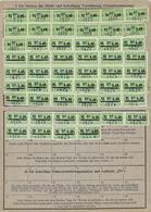 Deutschland Bayern Karte Invalidenversicherung Social Security 1954 - Deutschland