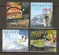 Zu 1168-1171 / Mi 1937-1940 100 Ans AMIS DE LA NATURE Obl. Voir Description - Switzerland