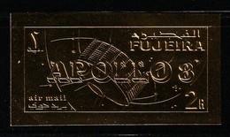 ESPACE - FUJEIRA - TIMBRE OR  **  NON DENTELE (1969) APOLLO 8 - Raumfahrt
