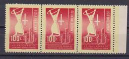 TRIESTE B 1948 TRITTICO 1° MAGGIO SASS. 1-3 MNH XF - 7. Trieste