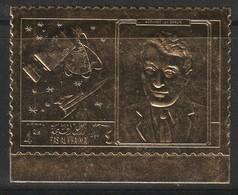 ESPACE - RAS AL KHAIMA - TIMBRE OR ** DENTELE (1969) Werner Von Braun - Space
