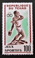 JEUX SPORTIFS 1962 - NEUF ** - YT PA 8 - MI 91 - TRES GRANDE RARETE !! GROS POINT DEVANT P DE POSTE - Tchad (1960-...)