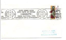 ESPAGNE OBLITERATION MECANIQUE CENSATE ALMERIA 1981 - Poststempel - Freistempel