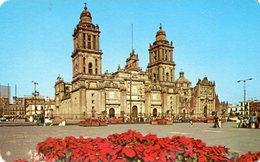 CATEDRAL METROPOLITANA Y EL ZOCALO / THE METROPOLITAN CATHEDRAL ON THE MAIN SQUARE MEXICO POSTAL CARD COLOR - LILHU - Mexico