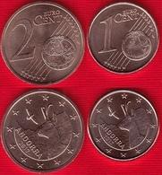 Andorra Euro Set (2 Coins): 1 + 2 Cents 2017 UNC - Andorra