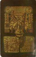 XIPE-TOTEC REPLICA EN ORO JOYA MONTE ALBAN / REPRODUCTION OF THE GOD OF DEATH OAXACA MEXICO POSTAL CARD COLOR - LILHU - Mexico