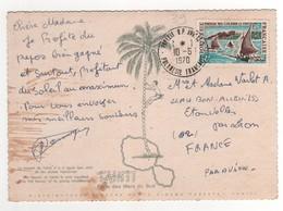 Timbre Yvert N° 39 Sur Cp , Carte , Postcard Du 10/06/1970 - Polynésie Française