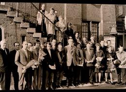 MERELBEKE    1973 FOTO 15 X 9 CM - WIELERTOERISTEN GEMEENTEHUIS - Merelbeke