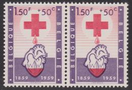 """Belgie / Belgique 1098  LV 1 Paire ** Point Rouge Sous Le """"0"""" Du 1.50F - Errors And Oddities"""