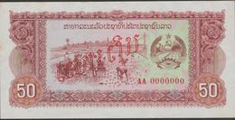 LAOS  SPECIMEN  BANKNOTEPICK N°29  50 KIP VF  See 2 Scans - Laos