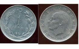 TURQUIE  1 Lira 1972 - Turquie