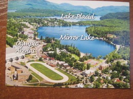 USA. Lake Placid Village Of The Olympics Aerial View Mirror Lake Postally Used - Other