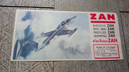 Buvard Zan Et Les Avions Zan  Avion Fouga CM 170 Magister - Sucreries & Gâteaux