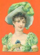 """CHROMO DECOUPI """" Femme élégante Avec Un Chapeau """" - Victorian Die-cuts"""