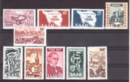 Sarre - Lot De Timbres Neufs * - Années 1940/50 - Cote 70 - Saargebiet