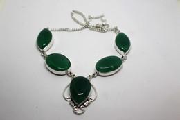 Collana Di Crisoprasio Verde Chiaro -  Misura 47 Cm - Necklaces/Chains
