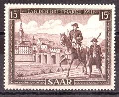 Sarre - 1951 - N° 291 - Neuf * - Journée Du Timbre - 1947-56 Occupation Alliée