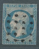 N°10 OBLITERATION GROS POINTS - 1852 Louis-Napoléon