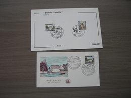 "BELG.1970 1541 & 1542 FDC Filami Card + FDC  "" Toerisme - Kasterlee - Nivelles- Tourisme - Kasterlee - Nivelles "" - FDC"