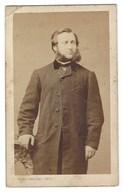 CDV HOMME PHOTO GERUZET JULES BRUXELLES FOTO MAN BRUSSEL - Oud (voor 1900)