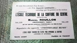 Buvard école Technique De La Coiffure Du Centre Rouillon Chateauroux - Buvards, Protège-cahiers Illustrés