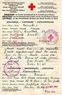 Croix-Rouge De Belgique  Rotes Kreuz  Rood Kruis  Requête CICR Genève Censure Anglaise 1941 (fixed Price) - Red Cross